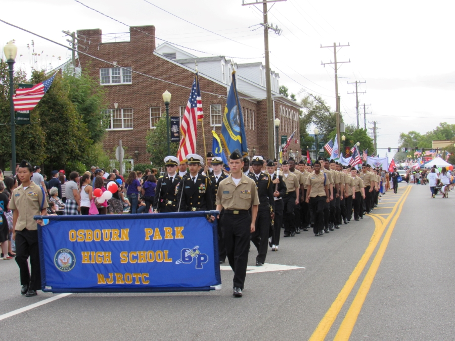 Students participating in Parade