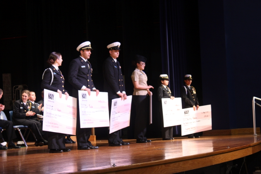 Student receiving scholarships in 2014